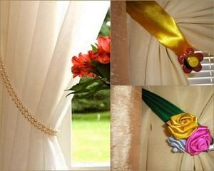 Декорируем шторы подхватами