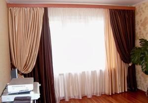 Как сочетать два цвета штор