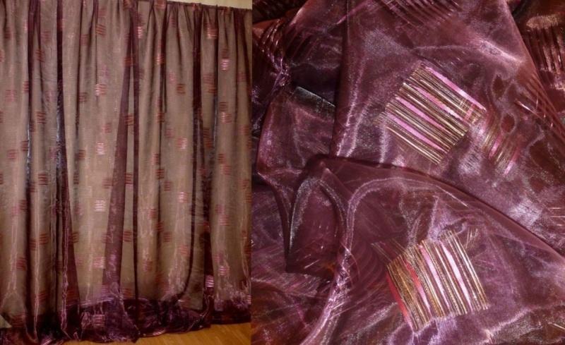 Воздушный материал органза: применение в интерьере