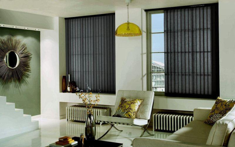 Вертикальные жалюзи в интерьере жилых и нежилых помещений