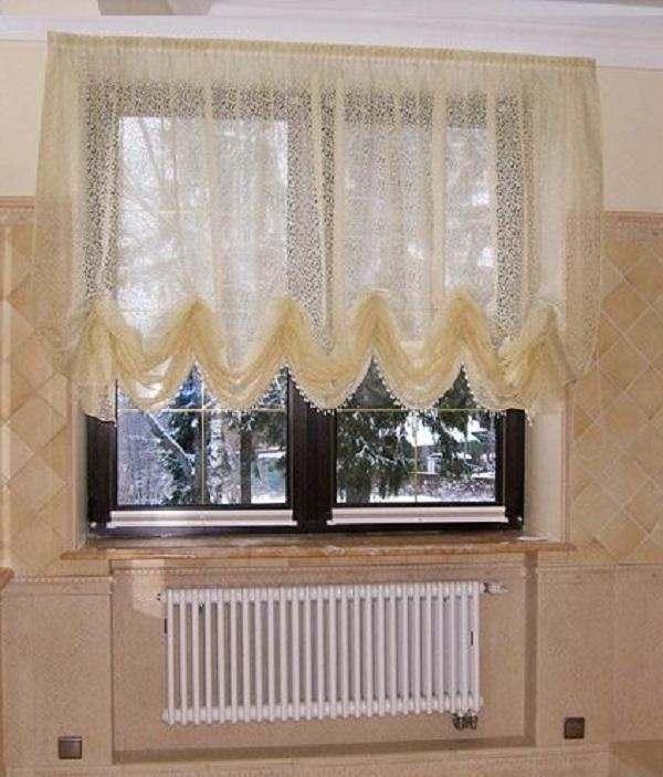 Австрийская занавеска — штора современного интерьера