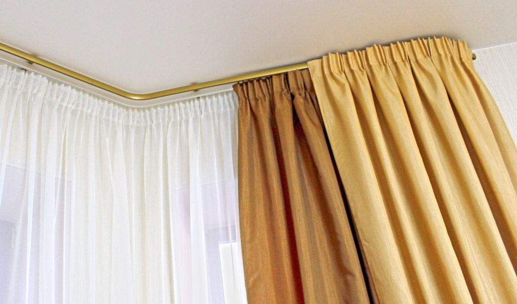 Багеты для штор в интерьере - материалы, типы креплений, установка