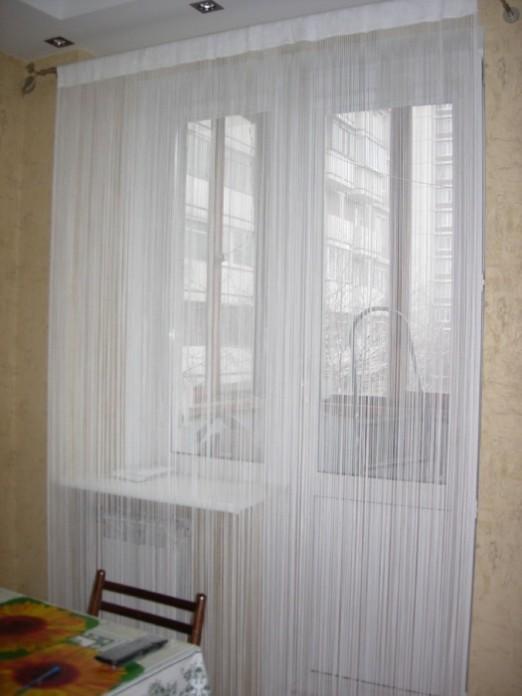 Кисея — как использовать в интерьере нитяную штору