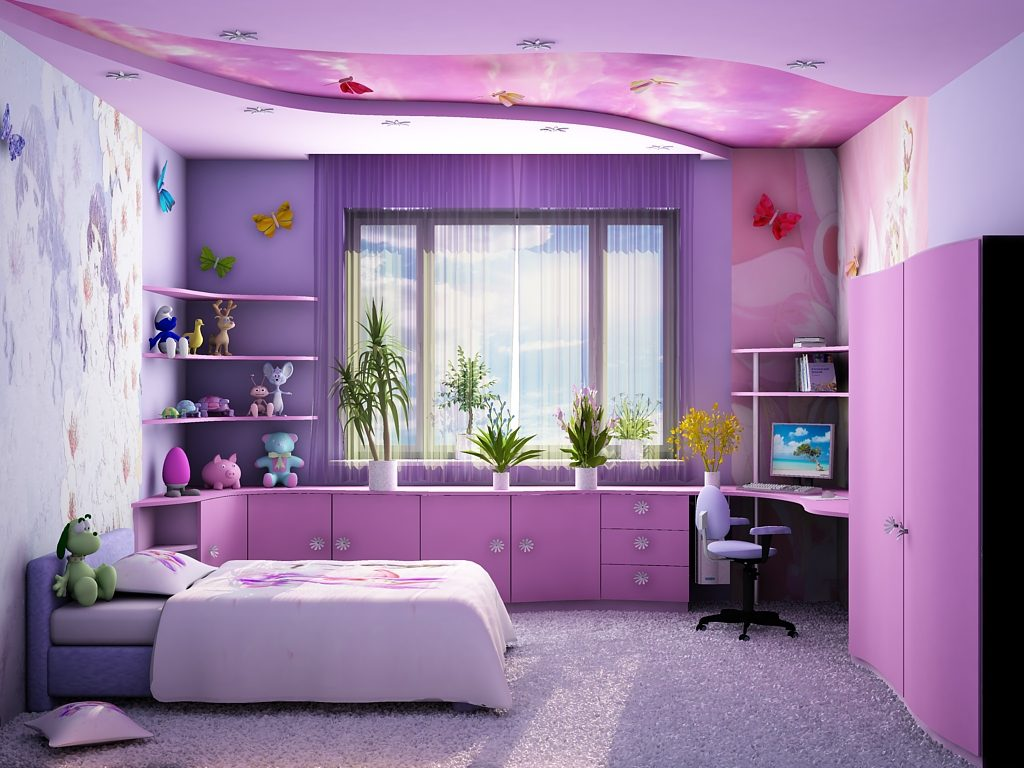 Комната для девочки-подростка - стили для спальни