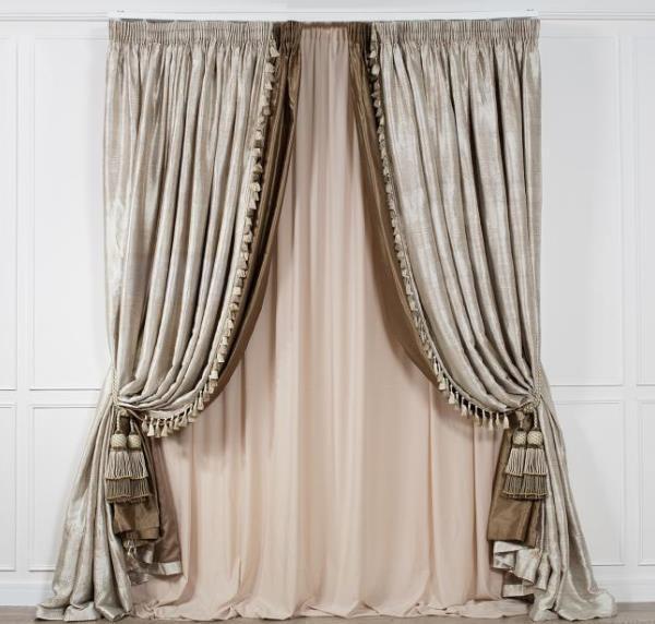 Гардины для интерьера, выбор штор и креплений на окна