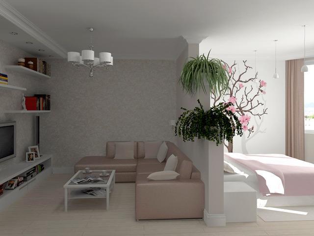 Разделение комнаты на две зоны, способы зонирования
