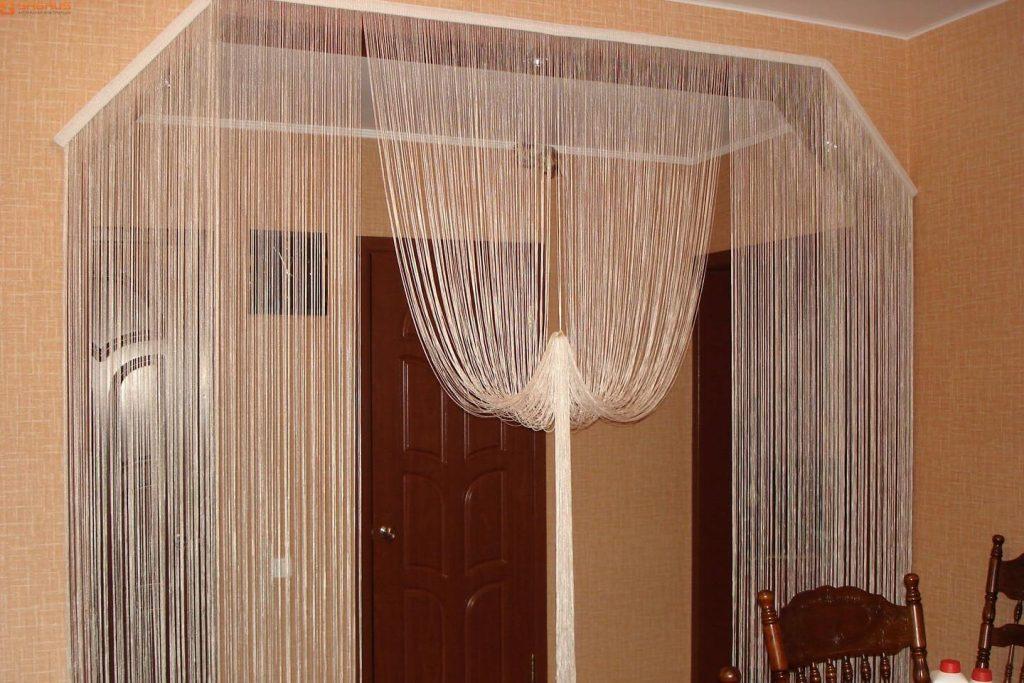 Шторы на двери и дверные проемы, виды дверных штор