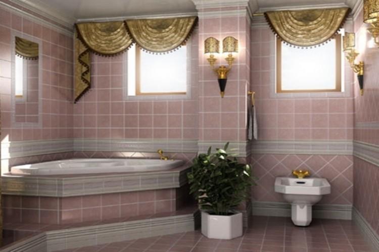 Шторы в ванную комнату для окна